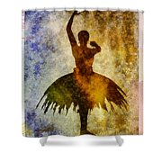 Ballerina 1 With Border Shower Curtain