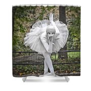 Ballerina In The Park Shower Curtain