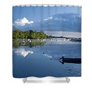 Ballina, Co Mayo, Ireland Morning Shower Curtain