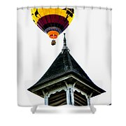 Balloon By The Steeple Shower Curtain