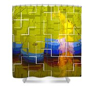 Balloon Cubed Shower Curtain