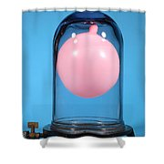 Balloon In A Vacuum, 3 Of 4 Shower Curtain