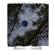 Balloon In The Pines Shower Curtain