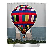 Ballooning Between The Stacks Shower Curtain