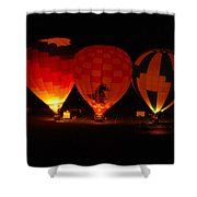 Balloons At Night Shower Curtain