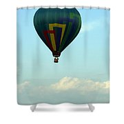 Balloons In Blue Skies  Shower Curtain