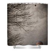 Balloons In The Pines Shower Curtain