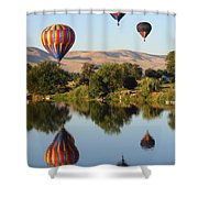 Balloons Over Horse Heaven Shower Curtain