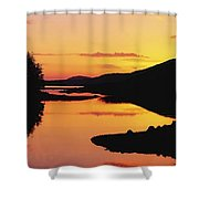 Ballynahinch Lake, Connemara, Co Shower Curtain