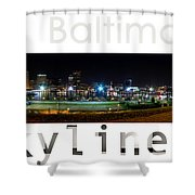 Baltimore Downtown Shower Curtain