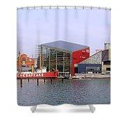 Baltimore Inner Harbor Shower Curtain