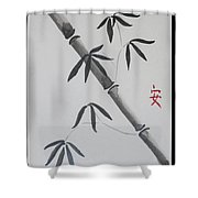 Bamboo Art Shower Curtain