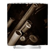 Bamboo Poles 1 Shower Curtain