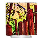 Bamboo Wind Chimes Shower Curtain