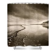 Bamburgh Castle Shower Curtain by Simon Marsden