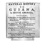 Bancroft: Title Page, 1769 Shower Curtain
