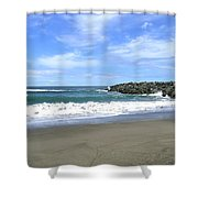 Bandon South Jetty Shower Curtain