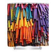 Bands Of Color Shower Curtain