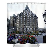 Banff Springs Hotel In The Canadian Rocky Mountains Shower Curtain
