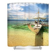 Bangka Sa Dagat Shower Curtain