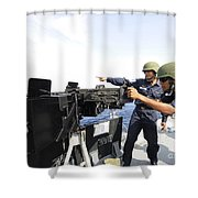 Bangladesh Navy Sailors Fire Shower Curtain