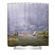 Banks Of The Loire In Spring Shower Curtain