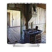 Bannack Ghost Town Kitchen Stove 2 Shower Curtain