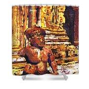 Banteay Srei Statue Shower Curtain