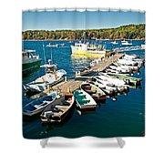 Bar Harbor Boat Dock Shower Curtain