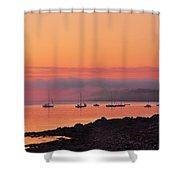 Bar Harbor Dawn Shower Curtain