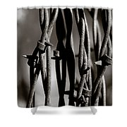 Barbbed Wire 2 Shower Curtain