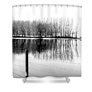 Barbed Water Shower Curtain