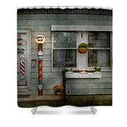 Barber - Belvidere Nj - A Family Salon Shower Curtain by Mike Savad