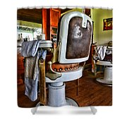 Barber - Barber Chair Shower Curtain