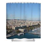 Barcelona View 2 Shower Curtain
