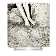 Barefoot In The Sand Shower Curtain