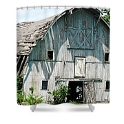 Barely Barnly Shower Curtain