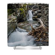 Baring Creek Waterfall And Rapids Shower Curtain