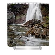 Baring Falls In Spring Shower Curtain