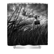 Barley And The Pump Mono Shower Curtain