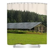Barn And Barbwire Shower Curtain