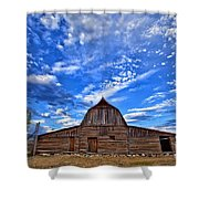 Barn And Clouds Shower Curtain