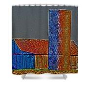 Barn And Silo Shower Curtain