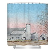 Barn And Sycamore Shower Curtain