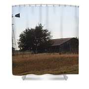 Barn And Windmill Shower Curtain