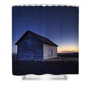 Barn At Sunset, Fort Saskatchewan Shower Curtain