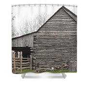 Barn Before Lightroom Shower Curtain