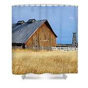 Barn In Calgary Shower Curtain