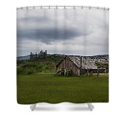 Barn Near Shady Cove Shower Curtain