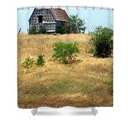 Barn On A Hill Shower Curtain